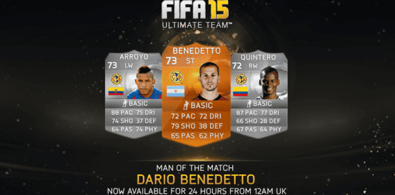 Darío Benedetto, nuevo MOTM para FIFA 15 Ultimate Team