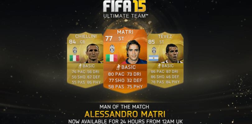 Alessandro Matri, nuevo MOTM para FIFA 15 Ultimate Team
