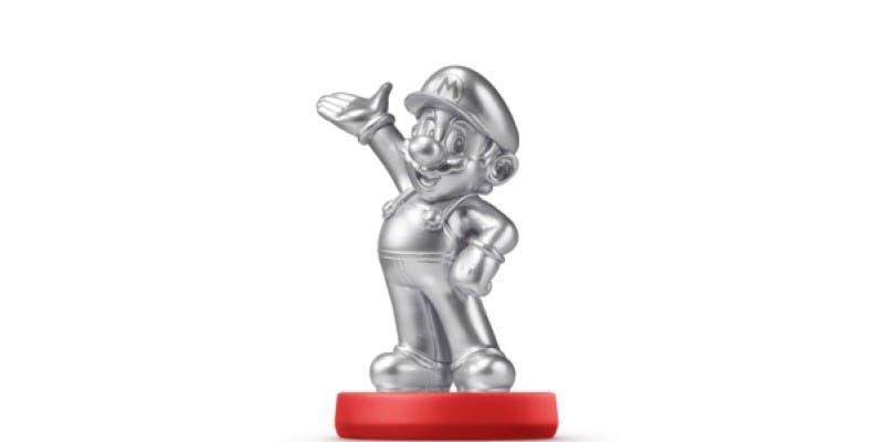 El amiibo plateado de Mario llegará a las tiendas este mes en Estados Unidos