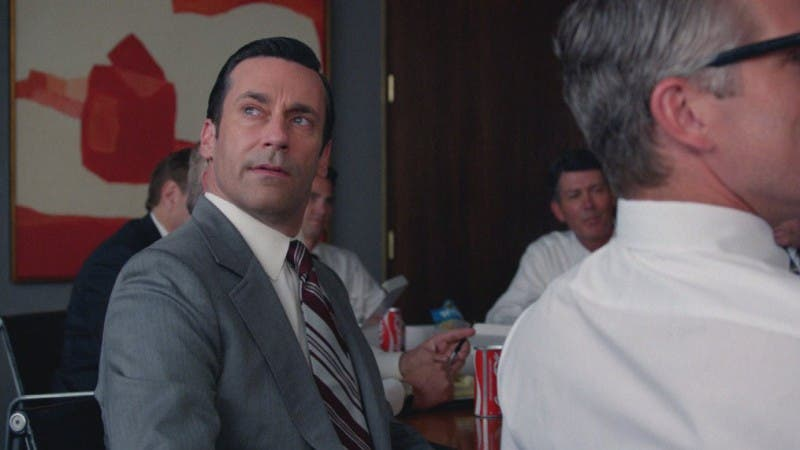 """""""Lo que tú llamas amor fue inventado por tipos como yo. Para vender medias."""" - Don Draper"""