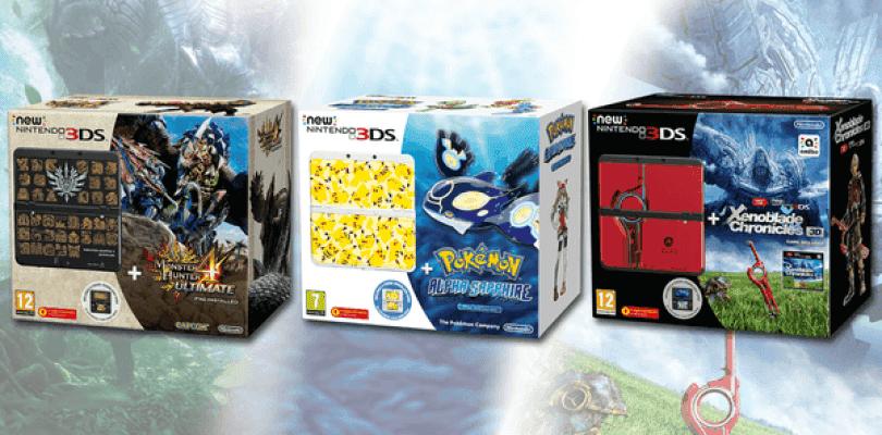 Tres packs con juego de New Nintendo 3DS llegarán este verano