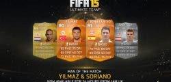 Yilmaz y Soriano, nuevos MOTM para FIFA 15 Ultimate Team