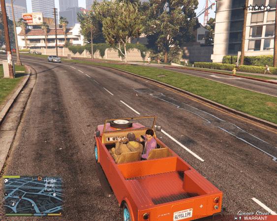 GTA V Canis chasing