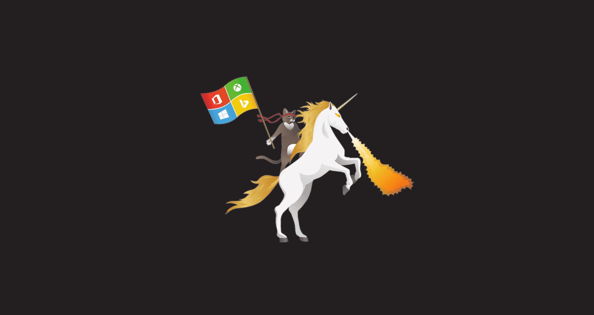 MS-ninjacat-unicorn-office-xbox-windows-bing