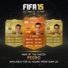 Pedro, jugador del Barcelona, nuevo MOTM en FIFA 15 Ultimate Team