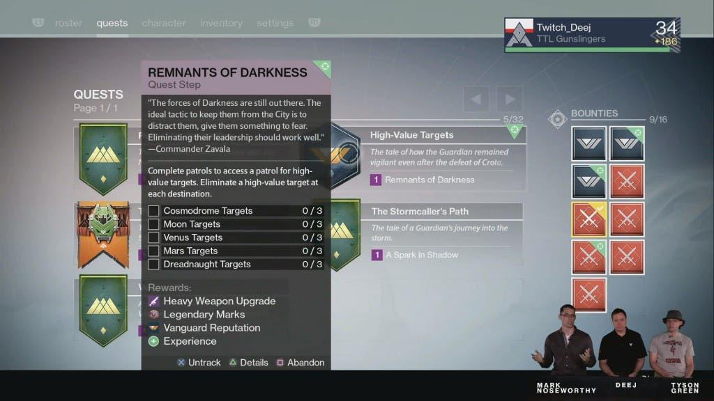 Quests Destiny TTK