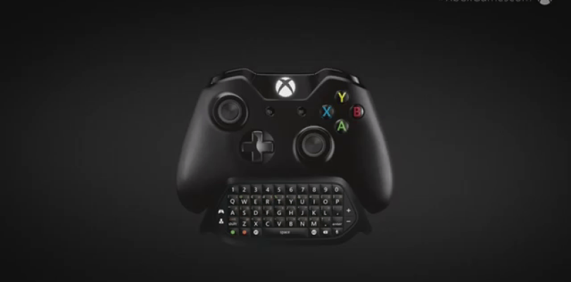 Microsoft anuncia un teclado acoplable al mando de Xbox One