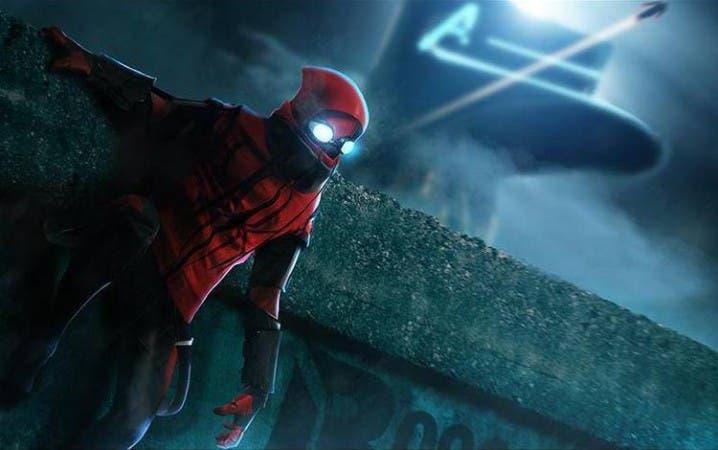 Boceto dibujo por el artista Bosslogic, recreando el posible traje hecho a mano de Spider-Man