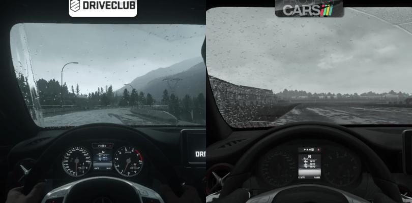 Comparan el efecto de la lluvia en Project CARS y DriveClub en un vídeo
