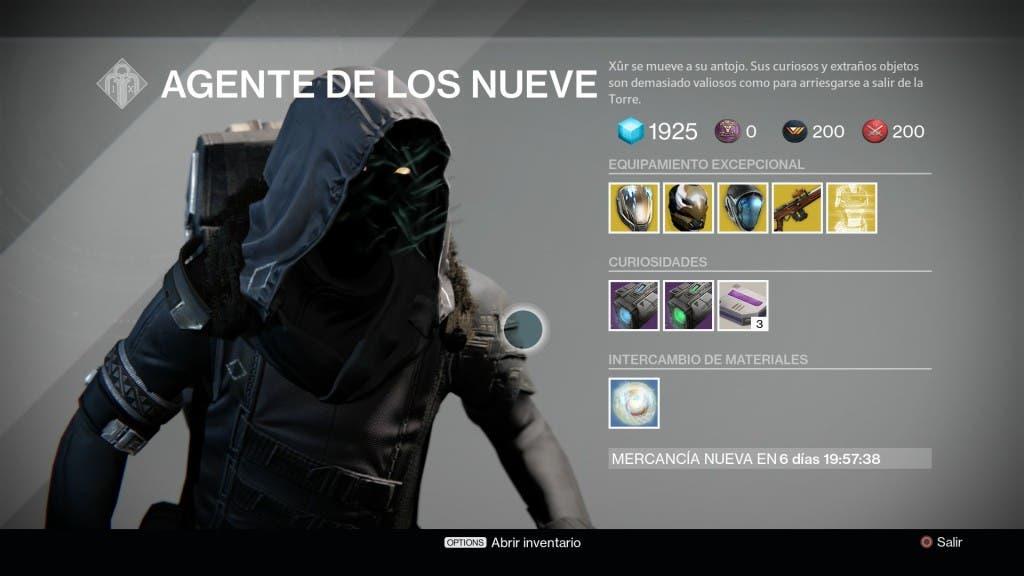Destiny Xur 11/09/15