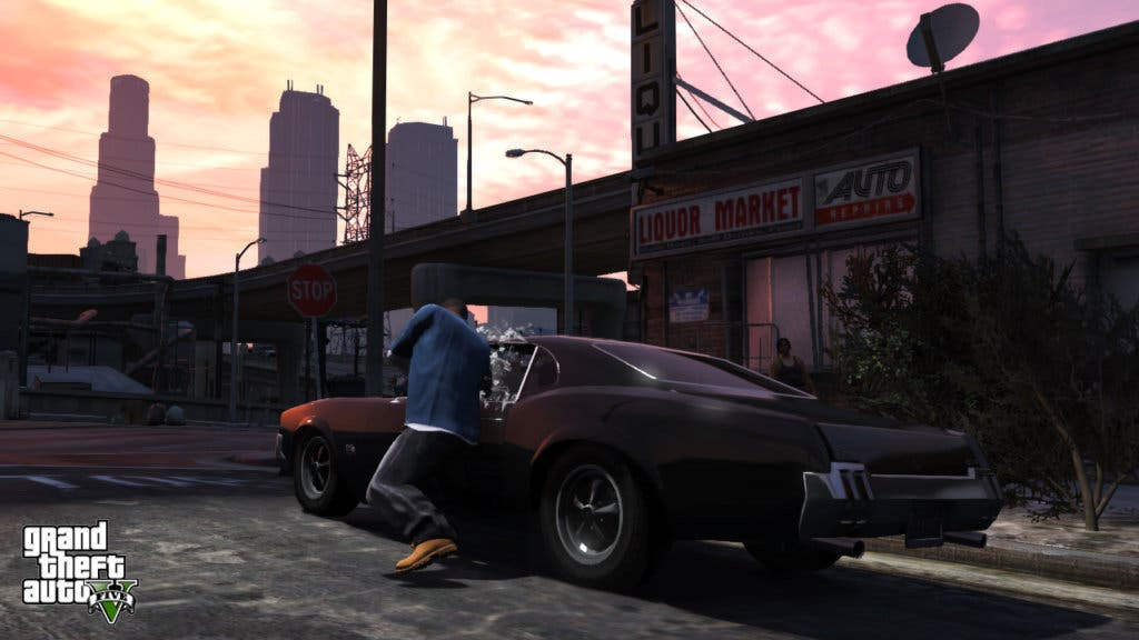 GTA V Franklin robando coche