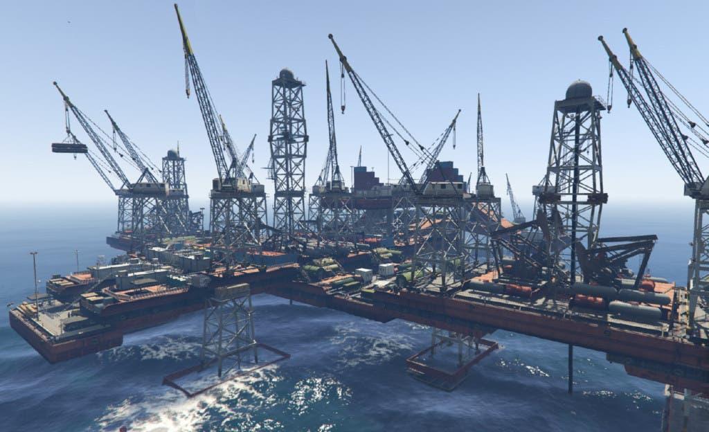 GTA V oil rig map