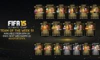 Equipo de la Semana 51 de FIFA 15 Ultimate Team (Del 2 al 9 de septiembre)