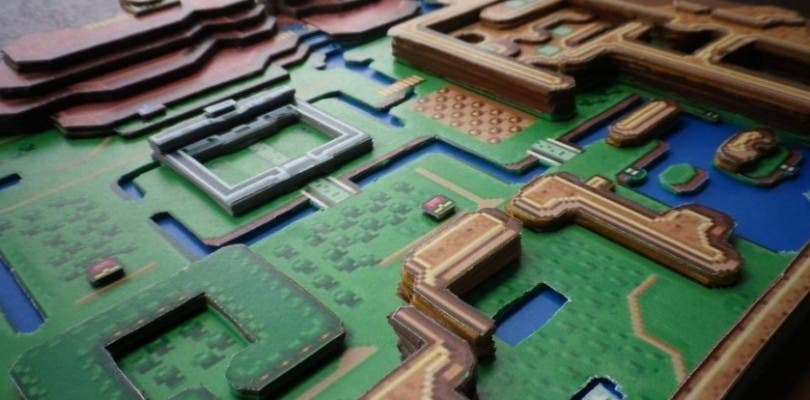 Así es el overworld de The Legend of Zelda: A Link to the Past recreado en papel