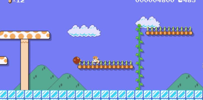 Y esto es lo que pasa en Super Mario Maker si tenemos el amiibo de Inkling Girl