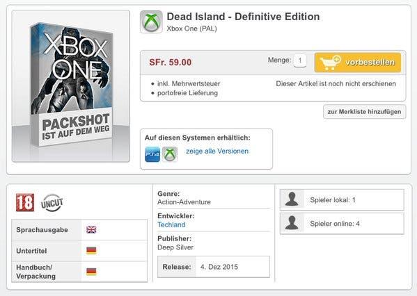 dead islan definitive edition