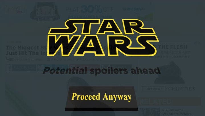 Areajugones Star Wars Spoiler Blocker