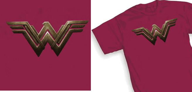 Areajugones Wonder Woman Camiseta Logo