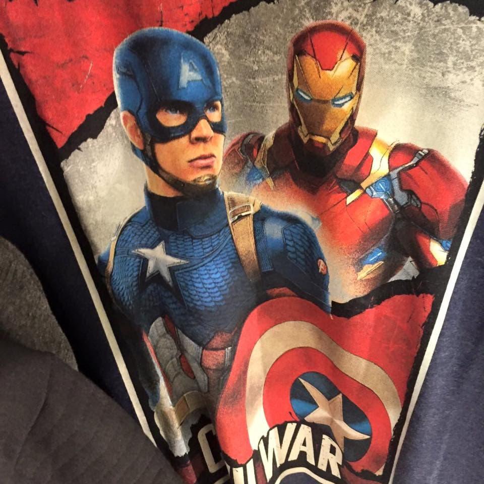 Captain America Civil War camiseta