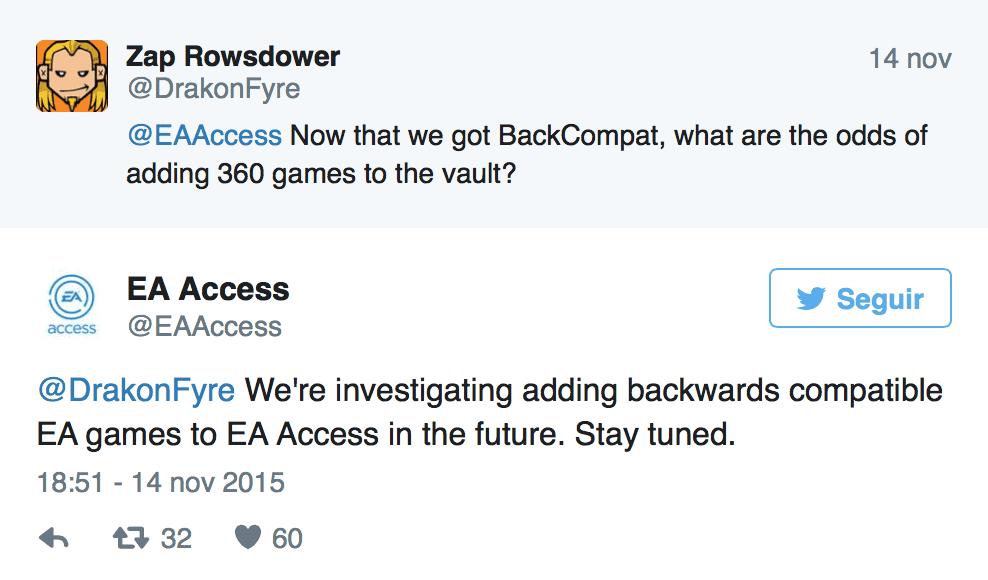 EA Access Twitter