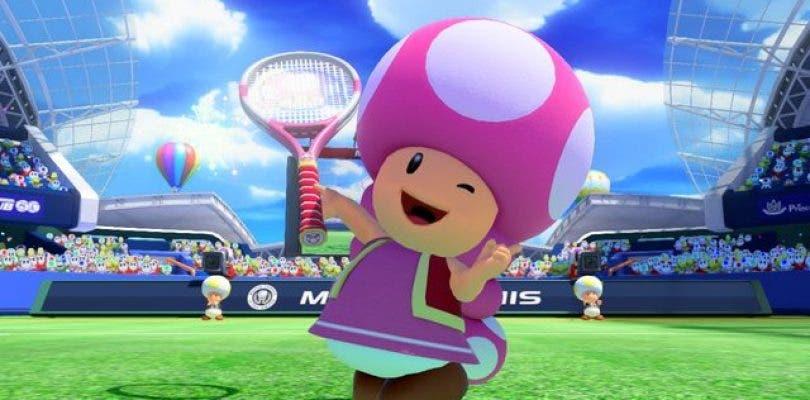 Se muestra a Toadette en unas screenshots y un tráiler de Mario Tennis: Ultra Smash