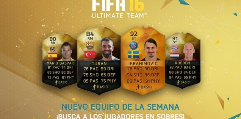 Ya disponible el Equipo de la Semana 10 de FIFA 16 Ultimate Team