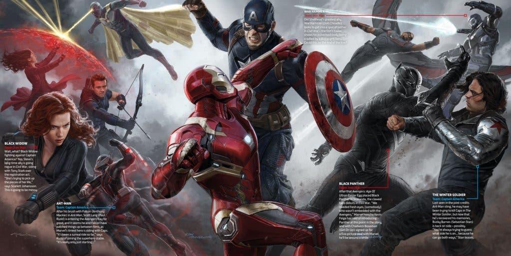 Areajucones Capitán América Civil War Arte Promocional