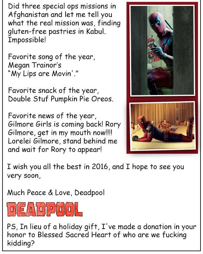 Areajugones Deadpool Postal