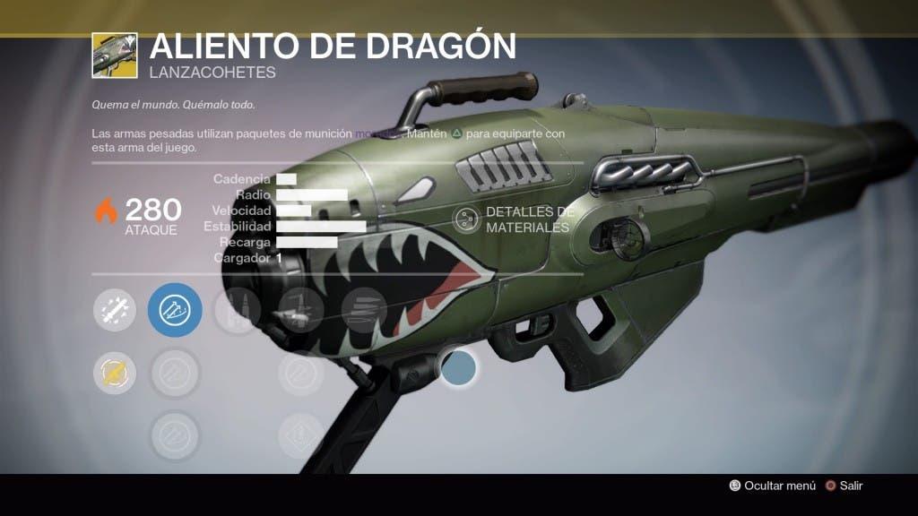 Destiny Aliento de Dragón
