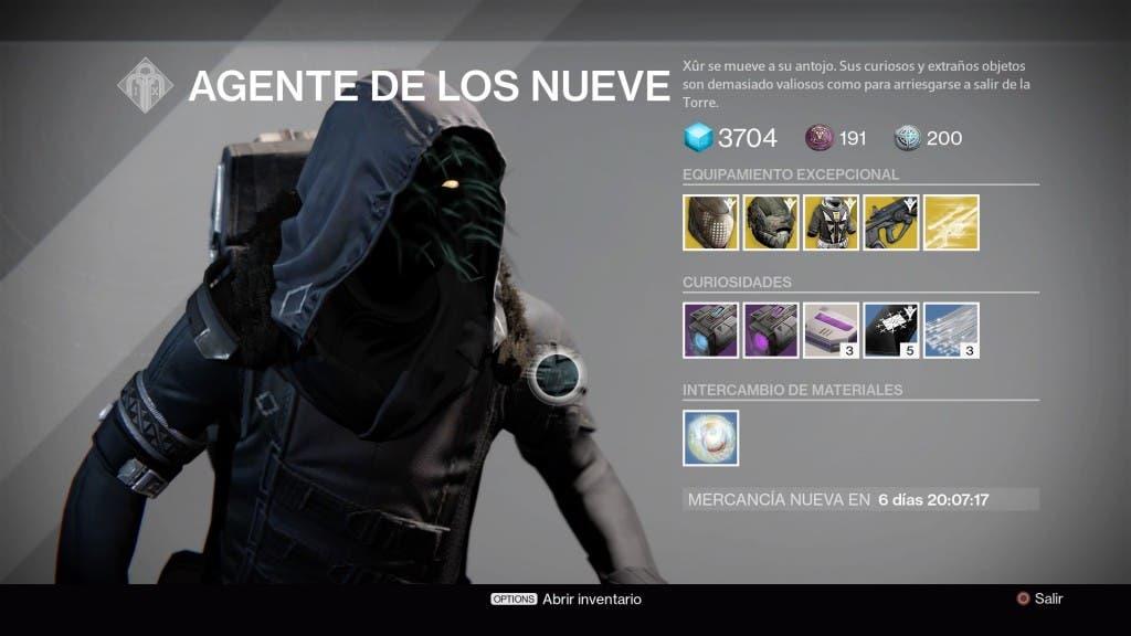 Destiny Xur 181215