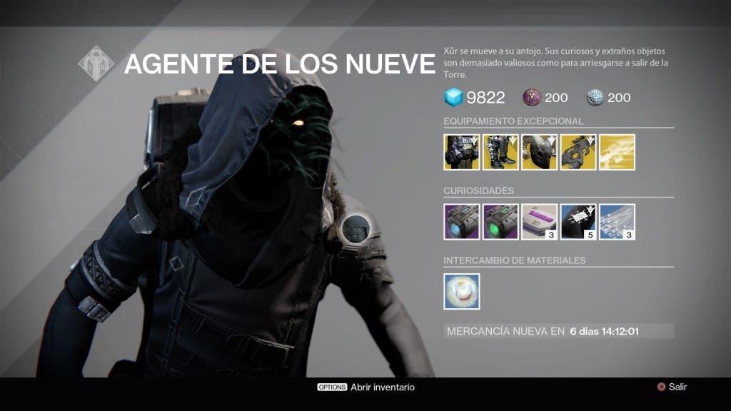 Destiny Xur 251215