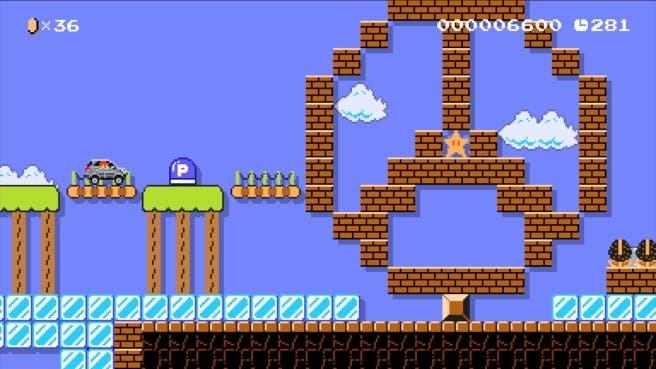 Super Mario MAker mercedes