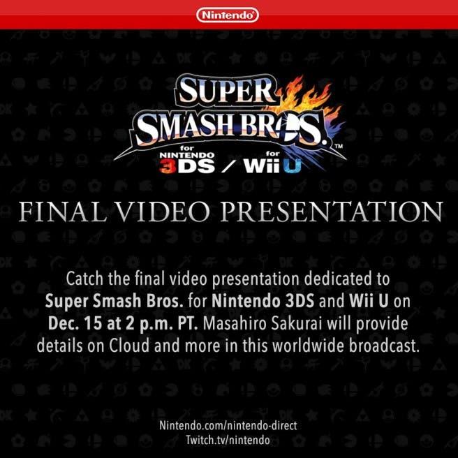 Super Smash Bros Cloud Directo