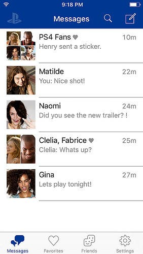_playstation-messages chats