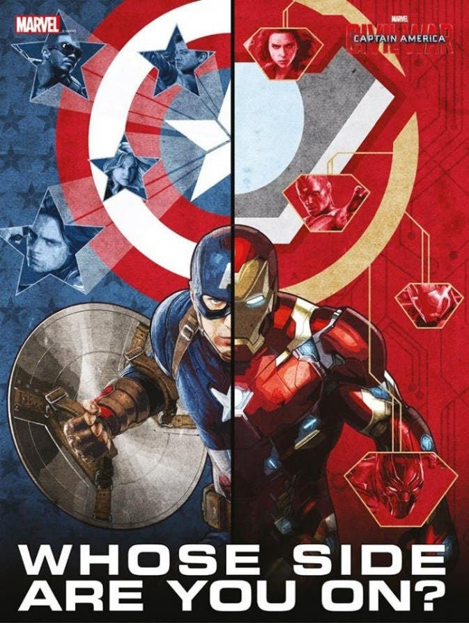 AreajugoNES Capitan America Civil War poster