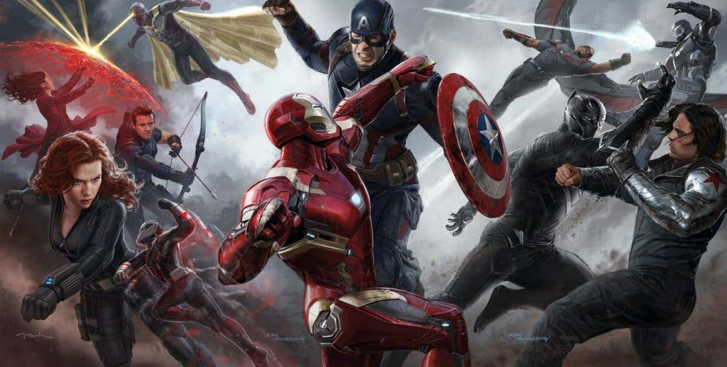 Areajugones Capitan America Civil War Arte