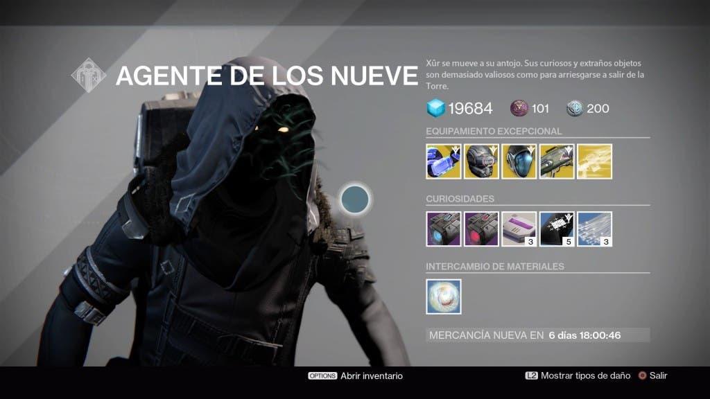 Destiny Xur 080116