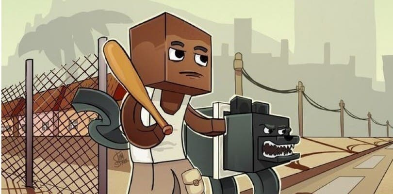 Recrean a escala real Los Santos de Grand Theft Auto V en Minecraft