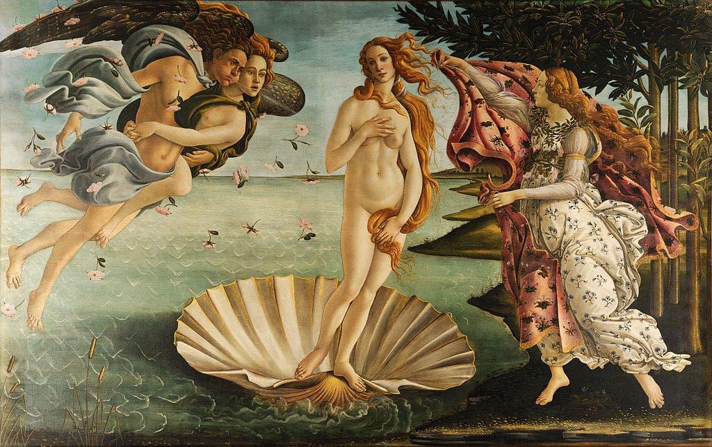 El nacimiento de Venus, Sandro Botticeli 1484