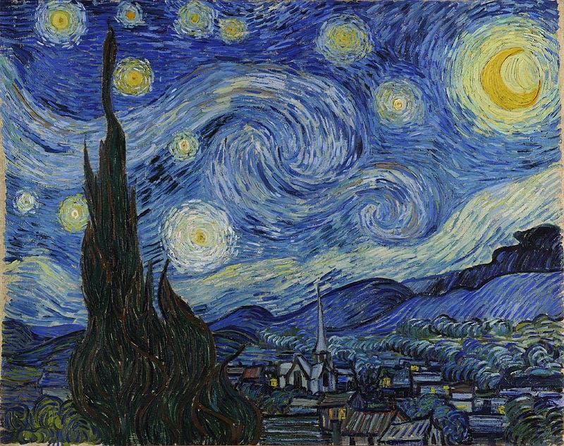 La noche estrellada, Vincent Van Gogh 1889