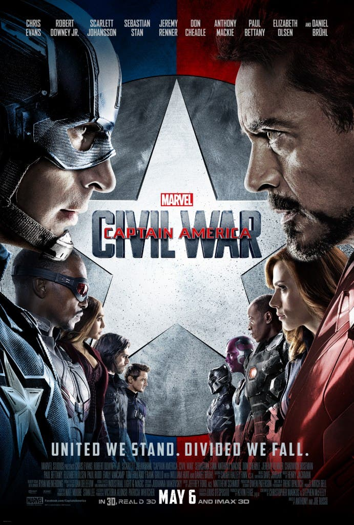 Areajugones Capitan America Civil War poster final