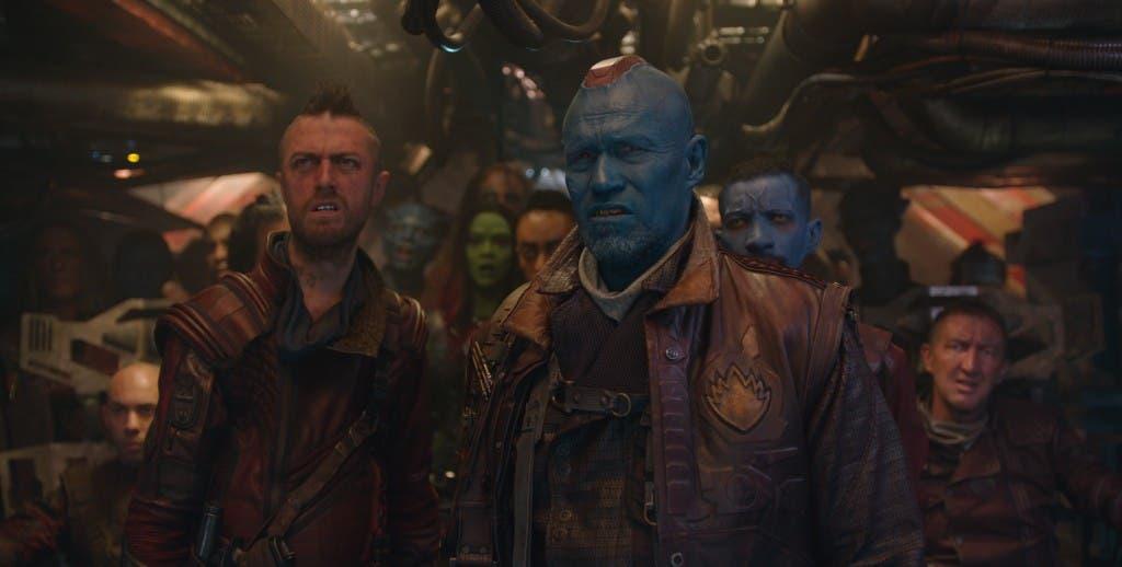 Marvel's Guardians Of The Galaxy..L to R: Ravager Crew Member (Sean Gunn) & Yondu (Michael Rooker)..Ph: Film Frame..?Marvel 2014
