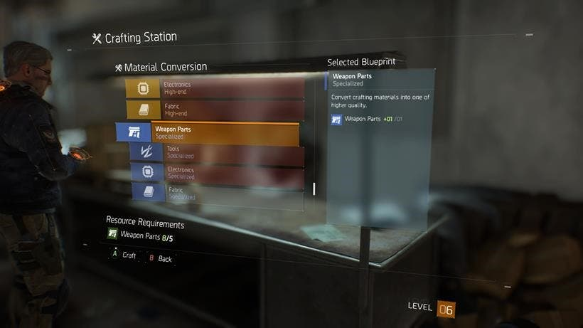 Crafting the division
