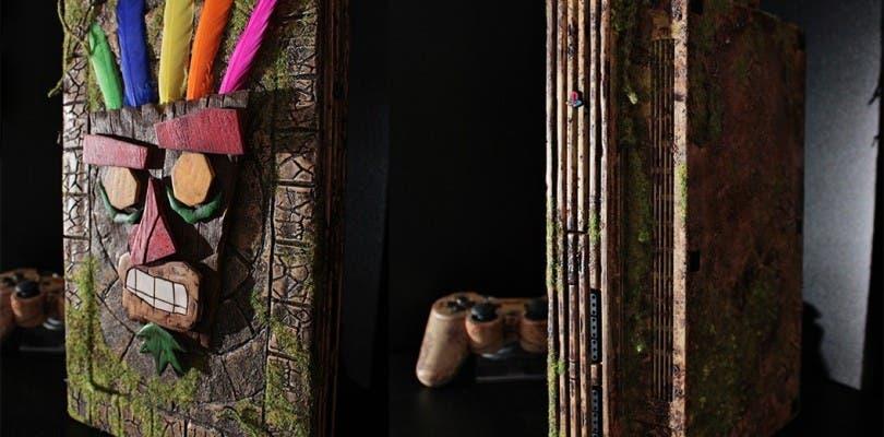Échale un vistazo a esta PlayStation 2 modificada al más puro estilo Crash Bandicoot
