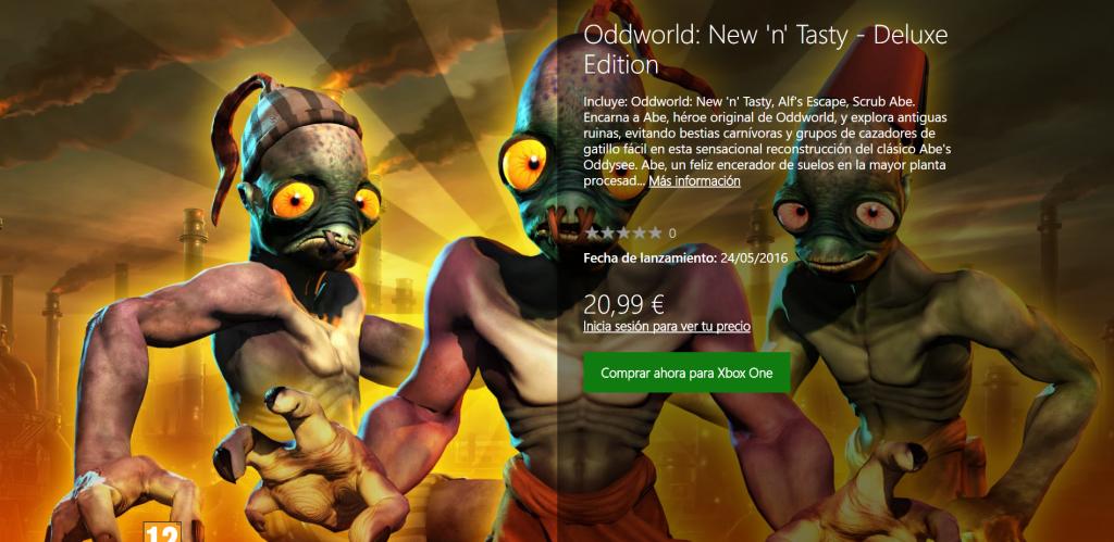 Oddworld new and tasty