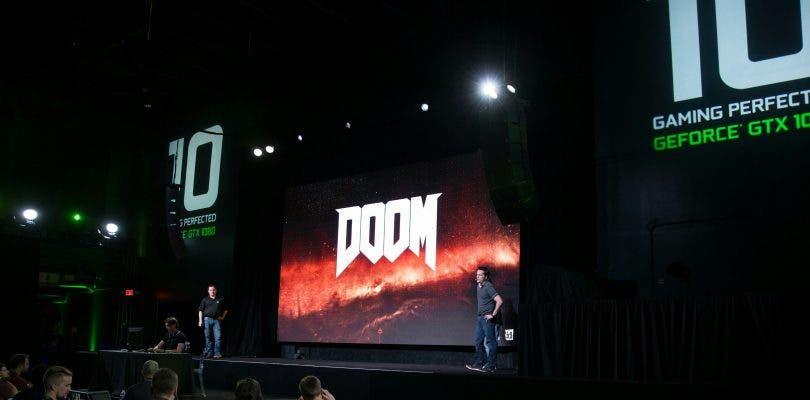 DOOM se mostró a una tasa de 200 frames con la nueva GTX 1080