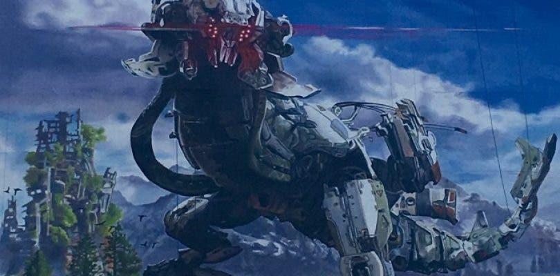 Se muestra un gigantesco artwork de Horizon Zero Dawn