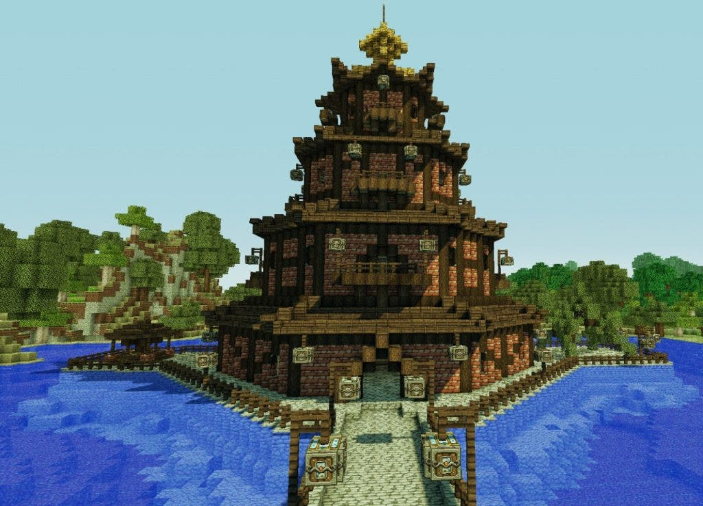 minecraft pagoda china