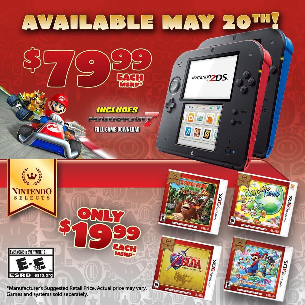 reducción precio Nintendo 2ds