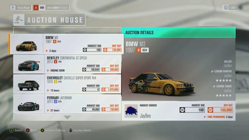 Forza Horizon 3 casa de subastas